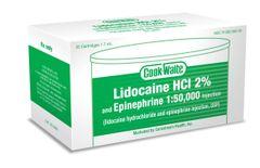 COOK-WAITE LIDOCAINE GREEN 2% 1:50,000