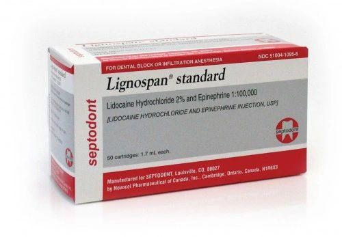 SEPTODONT LIGNOSPAN STANDARD 2% 1:100,000