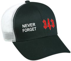 CAP 343 - 9/11 NEVER FORGET Memorial Cap