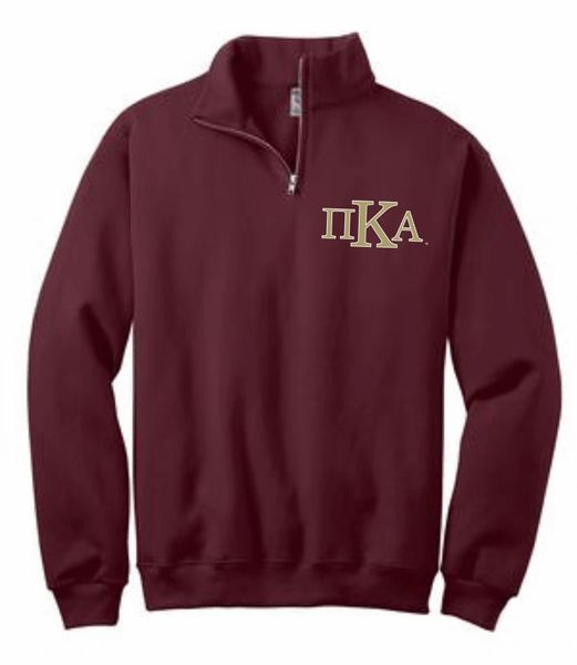 PIKE Quarter Zip Cadet Collar Sweatshirt