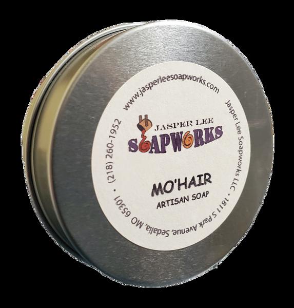 MO'HAIR Stimulating Soap in a tin