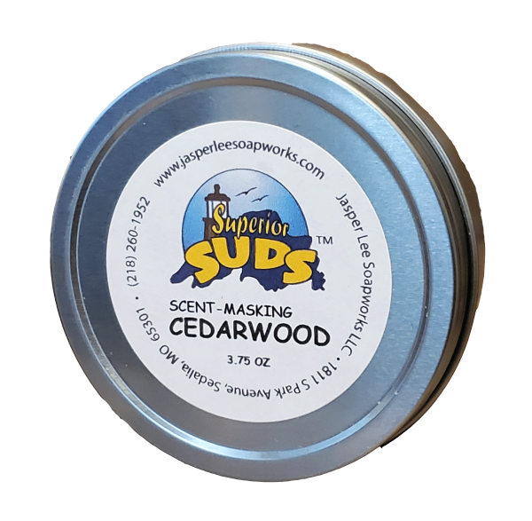 Scent-Masking Cedarwood in a Tin
