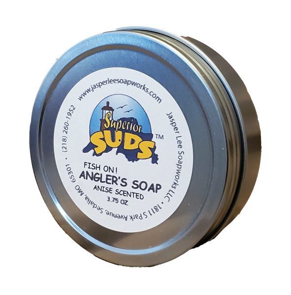 Fish On! Angler's Soap in a Tin