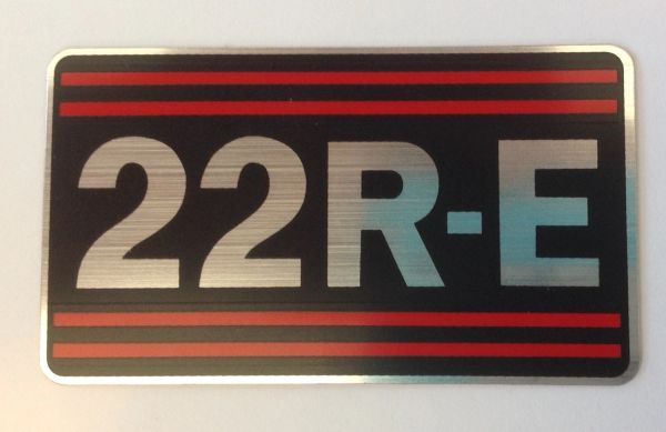 OEM 22RE Valve Cover Sticker Decal