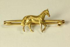 Gold horse stock pin