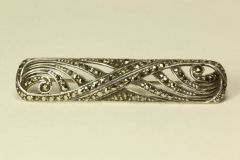 Silver and marcasite stock pin