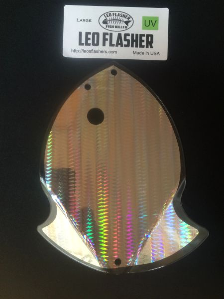 Large Leo Flasher UV Silver SnakeSkin
