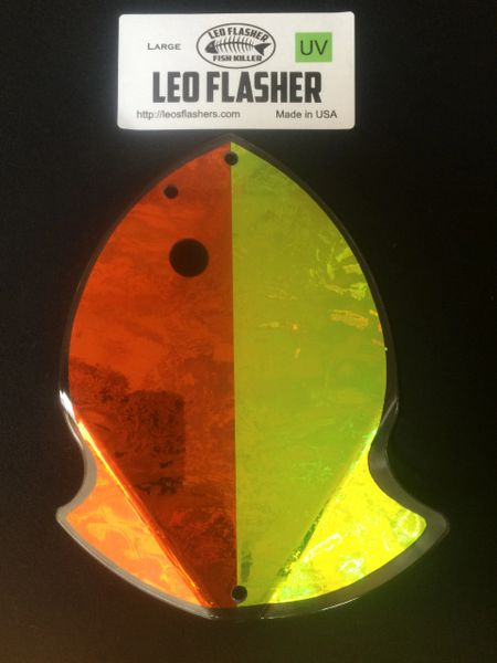 Large Leo Flasher Orange Frost / Chartreuse