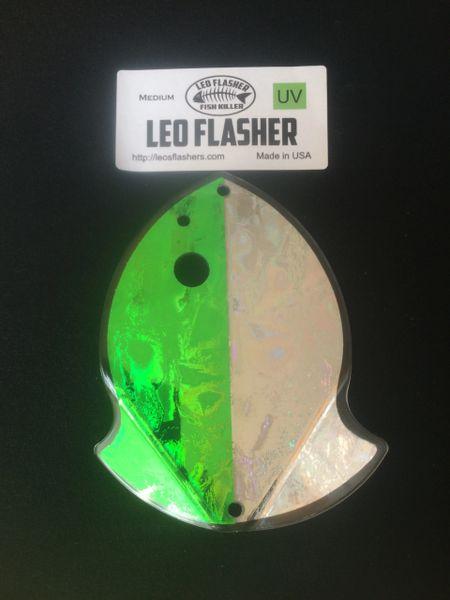 Medium Leo Flasher Green Frost / Silver