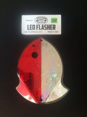Medium Leo Flasher Red Frost / Silver