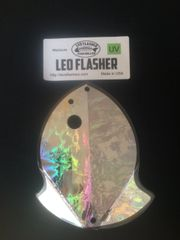 Medium Leo Flasher Silver Frost on Clear