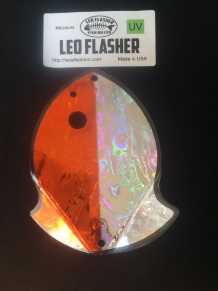 Medium Leo Flasher Orange Frost / Silver