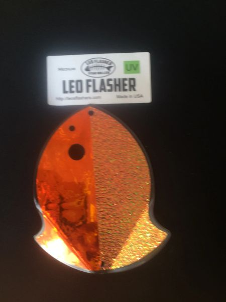 Medium Leo Flasher Orange Frost / Crushed Pearl