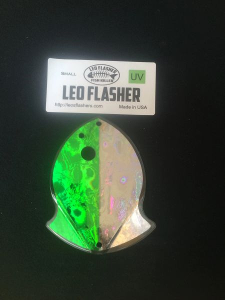 Small Leo Flasher Green Frost / Silver Frost
