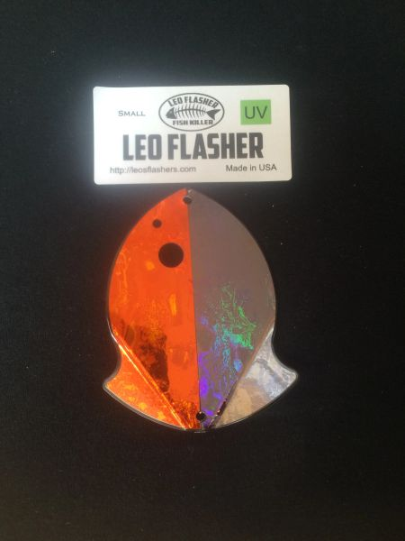 Small Leo Flasher Orange Frost / Black Frost
