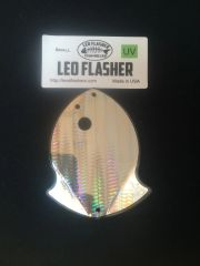 Small Leo Flasher Silver Snake Skin