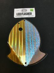 Large Leo Flasher 50/50 Gold SS Crush on Clear