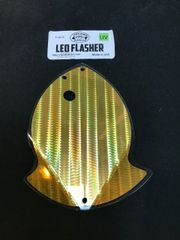 Large Leo Flasher Gold SS on Clear