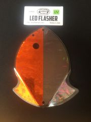 Large Leo Flasher Orange Frost / Black