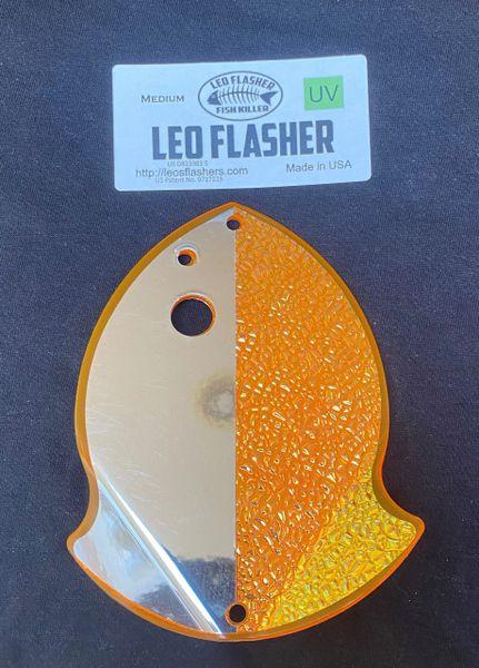 Medium Leo Flasher Chrome / Crushed Pearl on Orange