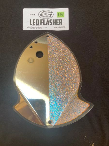 Large Leo Flasher Chrome / Crushed Pearl