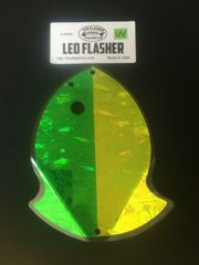 Large Leo Flasher UV Green/Chartreuse Frost