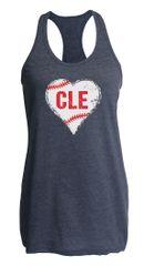 I Heart CLE Baseball Racerback