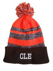 Beanie – Brown & Orange