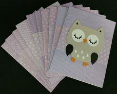 OWL LIGHT BROWN/GRAY NOTE CARDS