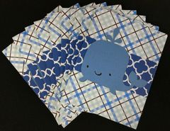 WHALE LIGHT BLUE NOTE CARDS