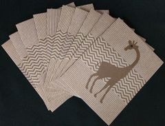 GIRAFFE BROWN NOTE CARDS
