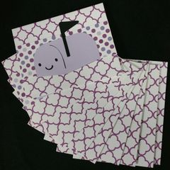 MAILBOX LIGHT PURPLE NOTE CARDS