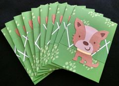 DOG BROWN NOTE CARDS