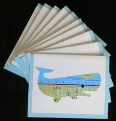 Oahu Whale Map Note Cards