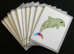 Oahu Dolphin Map Note Cards