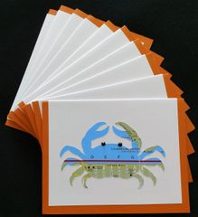 Oahu Crab Map Note Cards
