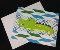 Alligator Note Card 03