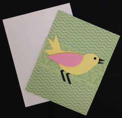 Bird Green Note Card 01