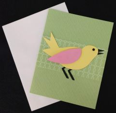 Bird Green Note Card 02