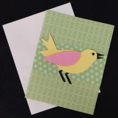 Bird Green Note Card 03