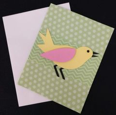 Bird Green Note Card 04