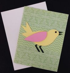 Bird Green Note Card 05