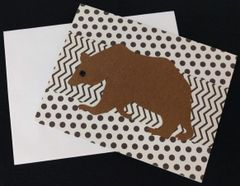 Black Bear Note Card 05