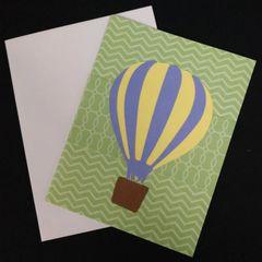 Hot Air Balloon Note Card 01