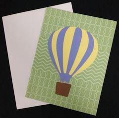 Hot Air Balloon Note Card 03