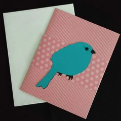 Bird Blue Note Card 03