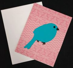 Bird Blue Note Card 05