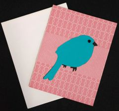 Bird Blue Note Card 04