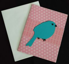 Bird Blue Note Card 02