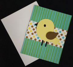 Bird Yellow Note Card 04